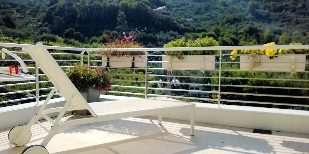 Terrasse der Wohnung B8