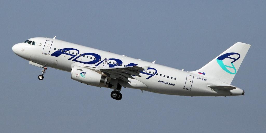 Res med flygbolaget Adria Airways till Italien