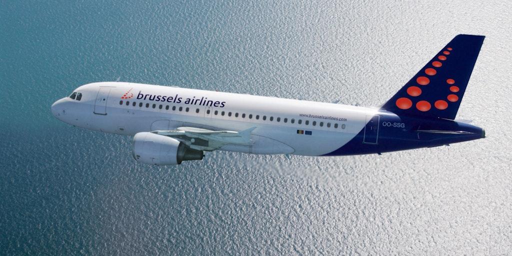 Res med flygbolaget Brussels Airlines till Italien