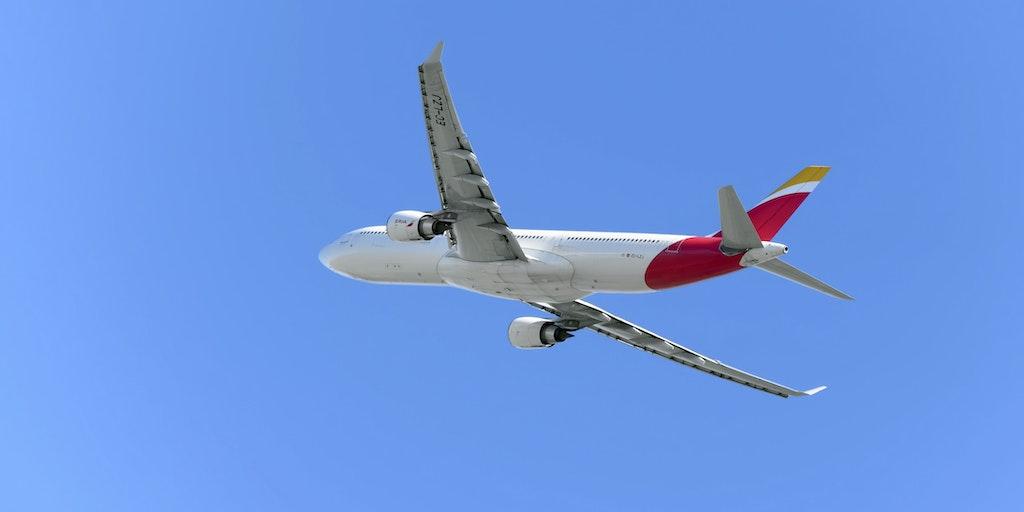 Res med flygbolaget Iberia till Italien