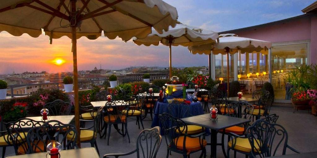 Buchen Sie in Rom ein Hotel mit Dachterrasse