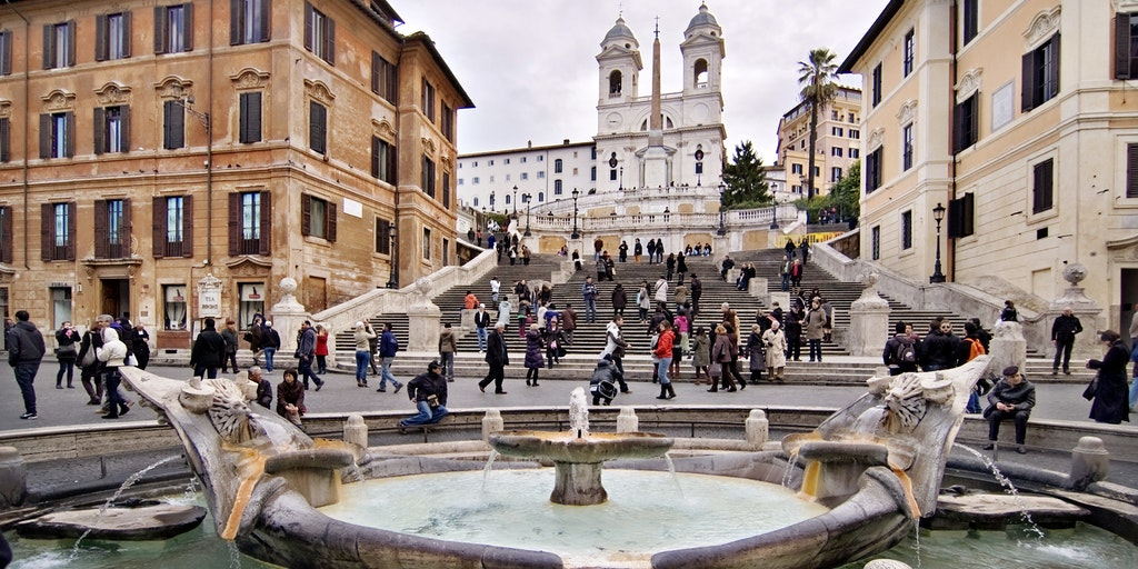 Die Spanische Treppe in Rom (Foto 2, Wikimedia Commons)