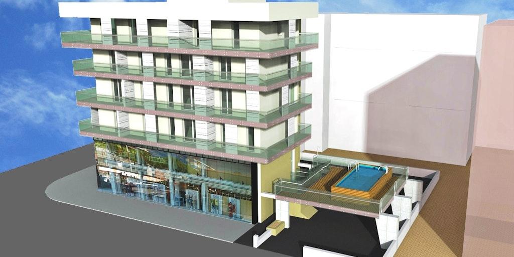 Prosjekt over det nye bassenget som vil stå klart sommeren 2016