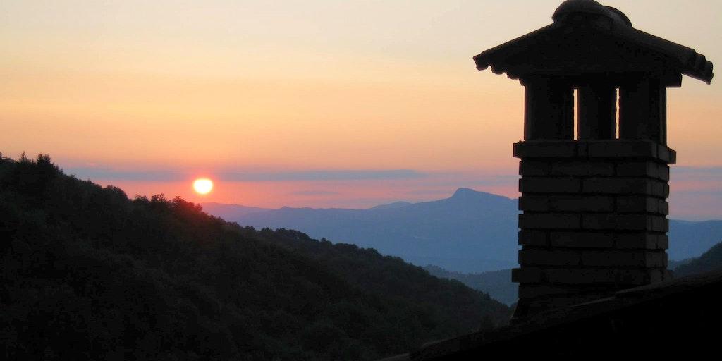 Coucher de soleil à Ortignano Raggiolo