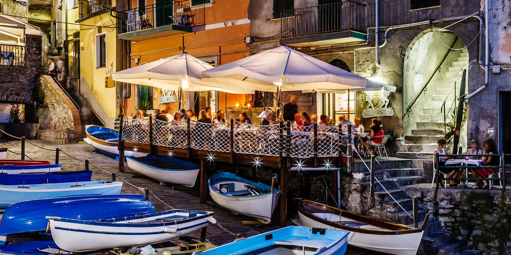 Kvällsstämning i Riomaggiore