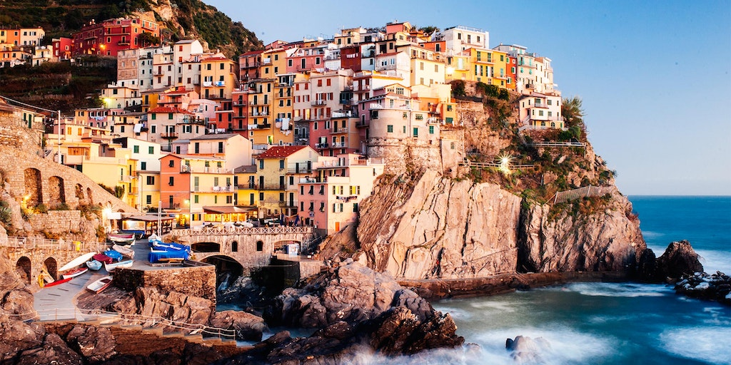 Vernazza i aftenlyset