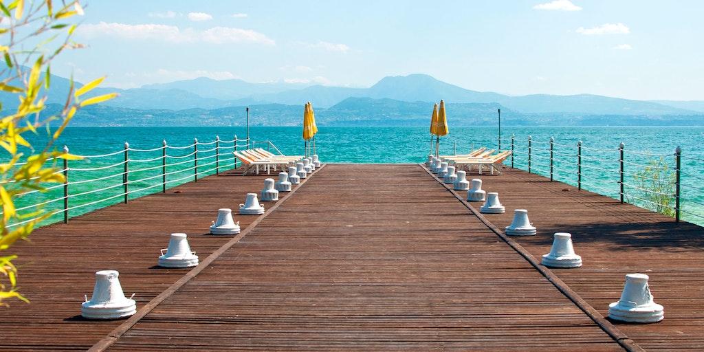 Det er gode bademuligheter ved Gardasjøen