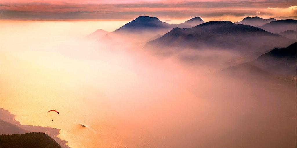 Lekkert skydekke over Gardasjøen