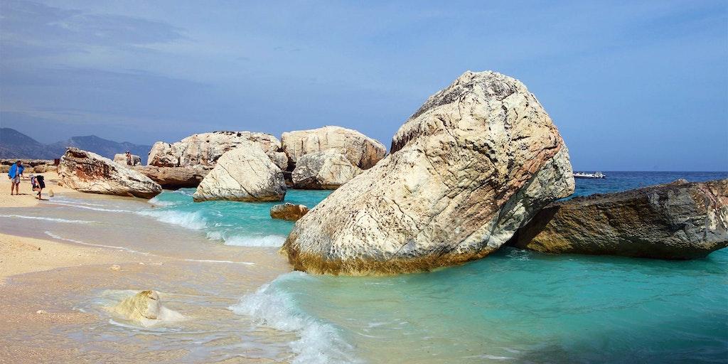 Stranden vid Cala Gonone