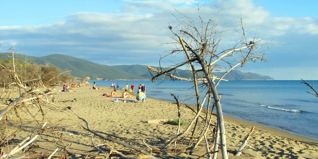 Öde strand vid Albarese