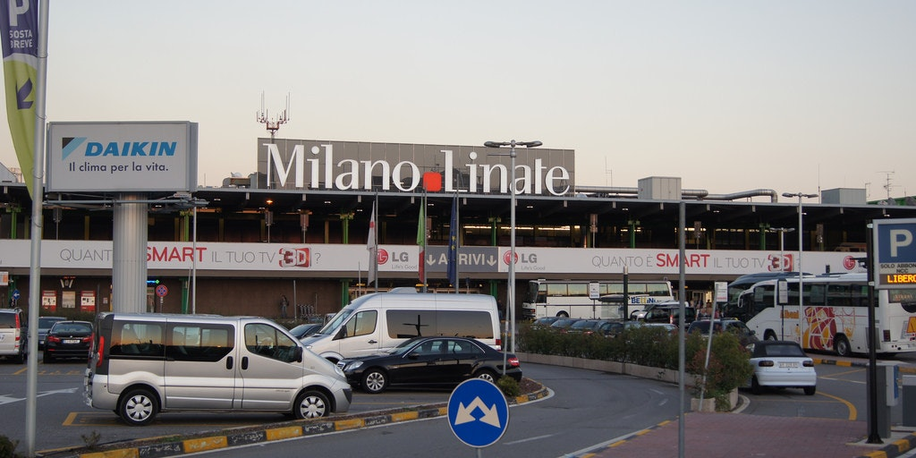 Udenfor Milano Linate Airport. Foto: Alfonzo Marchan - Flickr