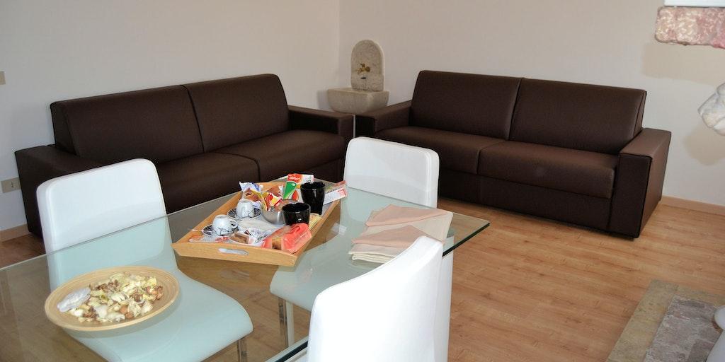 Exempel på uppehållsrum i Comfort Suite