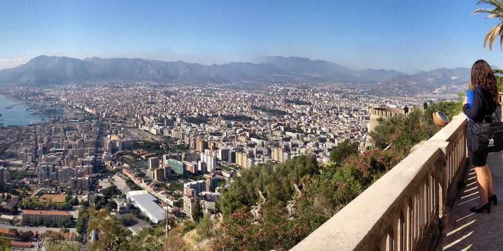 Udsigt over Palermo fra Utveggio borgen
