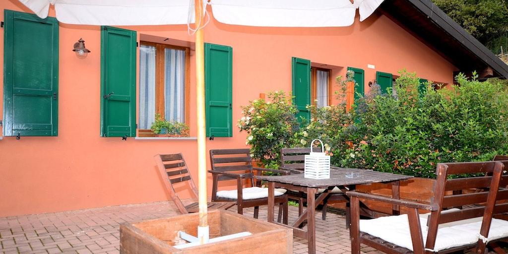 En av terrassene til leilighetene