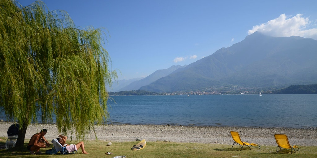 A lovely beach in Domaso