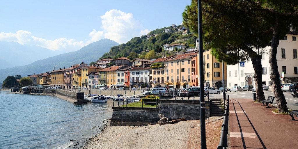 Die Seepromenade in Domaso