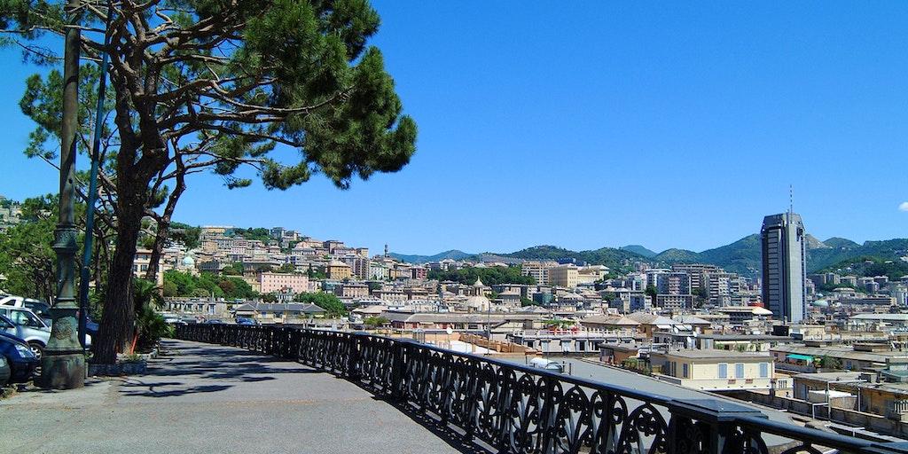 Panorama fra Corso Podestà