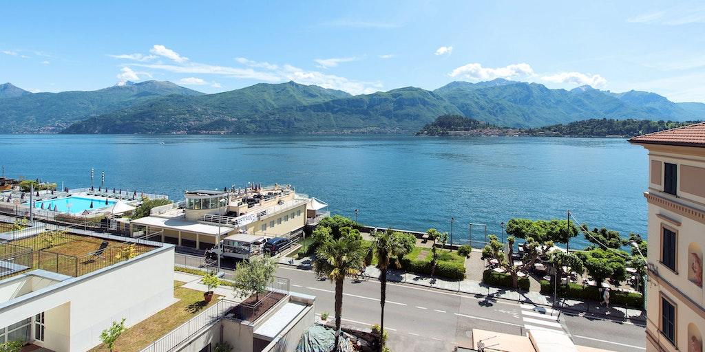 La vue des appartements sur le lac et vers Bellagio