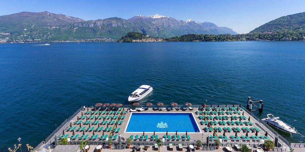 Skal jeg hoppe i poolen eller sejle til Bellagio? :-)