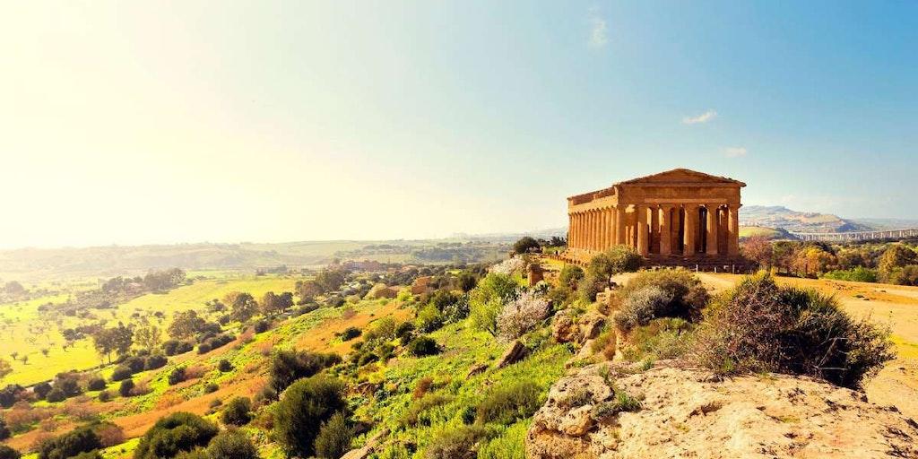 Resor till Sicilien bjuder på dramatiska landskap