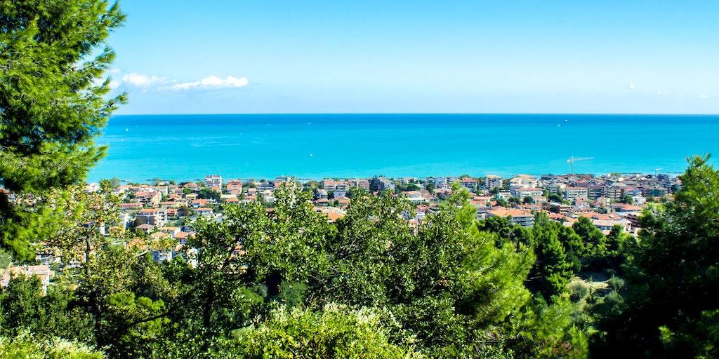 Byen Pescara ligger lige ud til Adriaterhavet