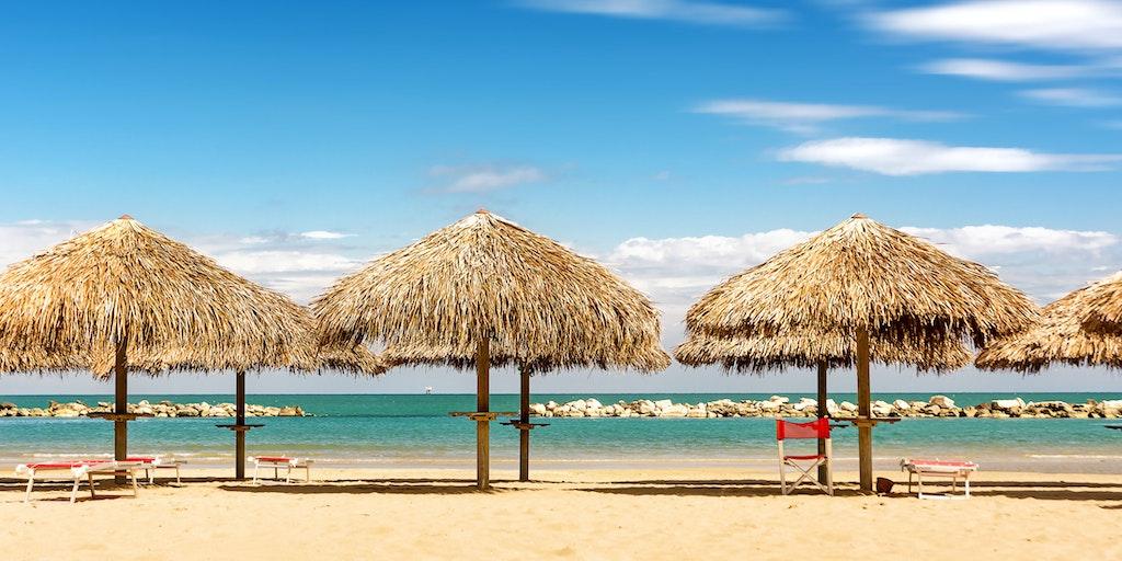 Pescara og dens forstæder har næsten 20 kilometer strandpromenade