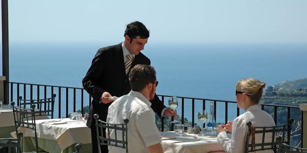 Restaurangen på Villa Maria hör också till hotellet