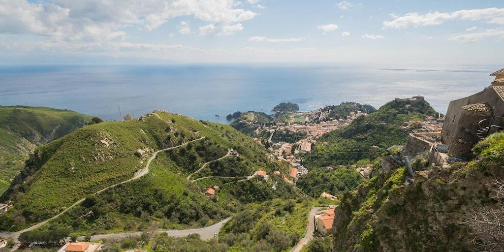 Taormina sett fra landsbyen Castelmola