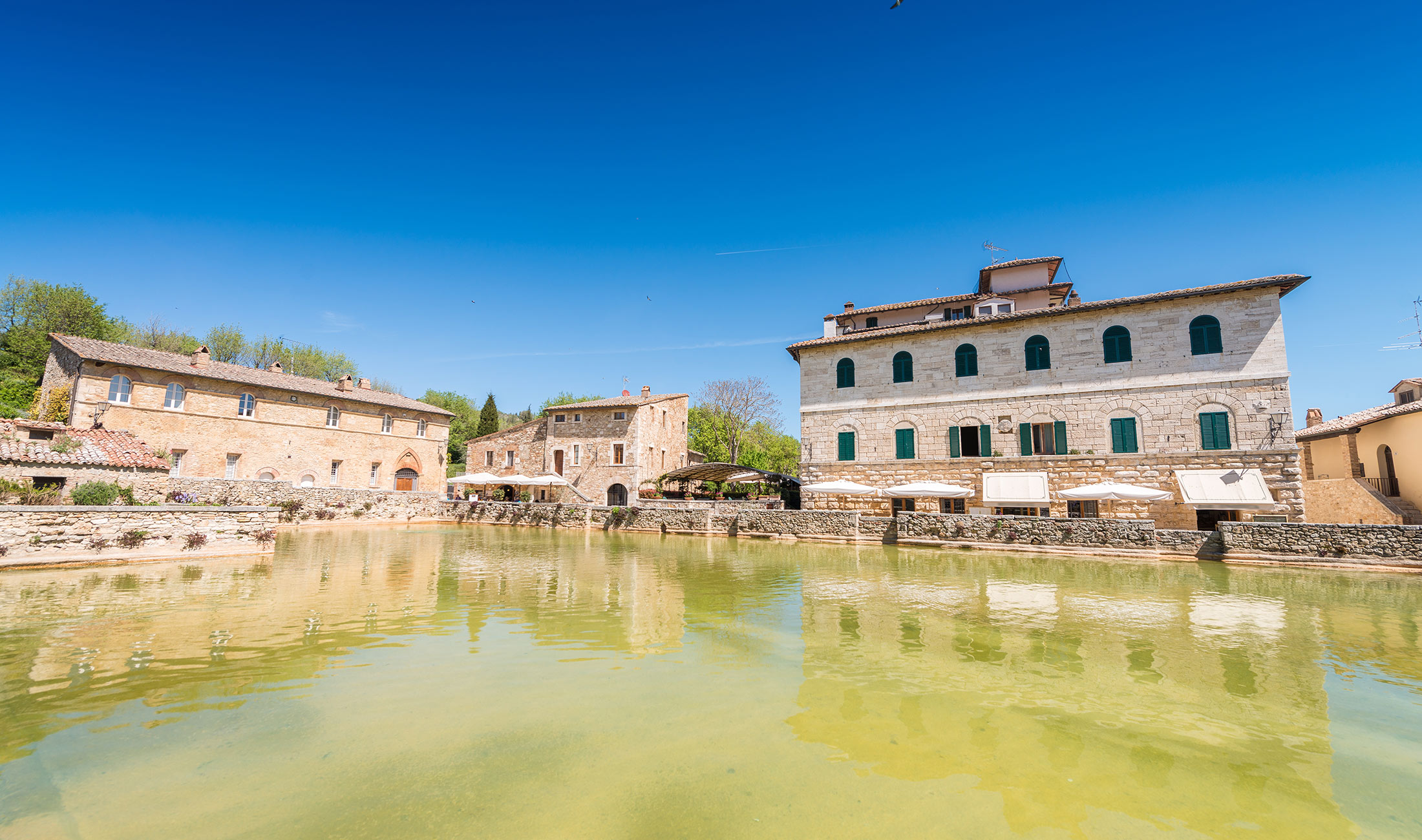 Bagno vignoni italy june the small medieval town of