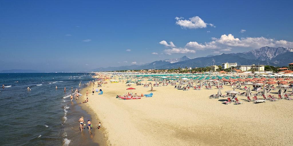 Stranden nær Pietrasanta