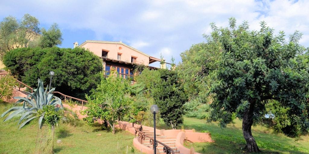 Trappen fra p-pladsen op til Agriturismo I Mandorli