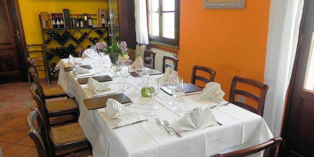 Das Restaurant im Podere La Pieve Vecchia