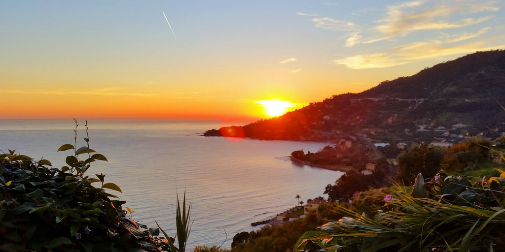 Sonnenuntergang mit gedämpften Farben