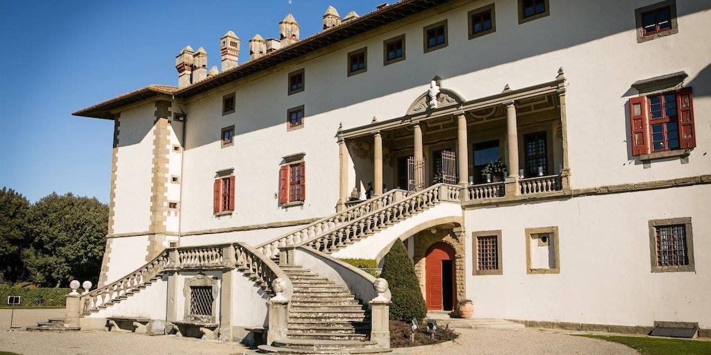 Den smukke Villa Medicea som bliver benyttet til større fester.