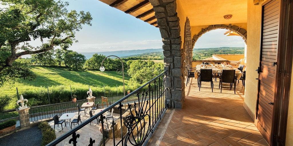 Terrassen til lejligheden Giglio Giallo