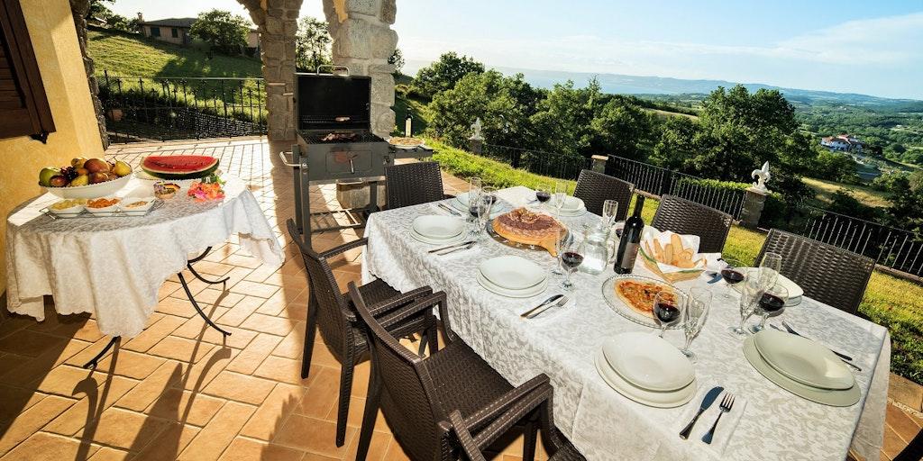 Terrassen til leiligheten Giglio Giallo