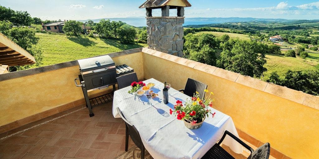 Terrassen til lejligheden Giglio Bianco