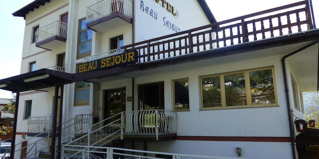 Ingång till Hotel Beau Sejour i Aosta
