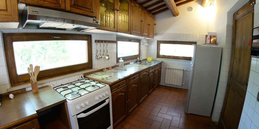 Køkkenet i lejligheden Casina