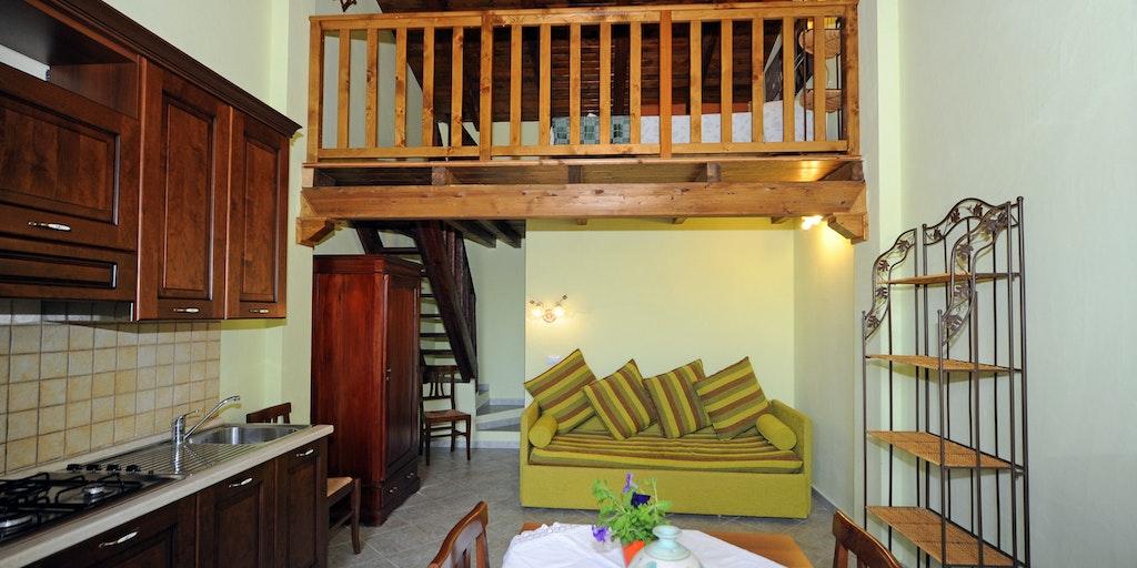 Beispiel einer Einzimmerwohnung mit Loft