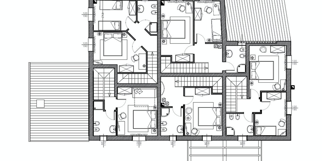 Borgo del Silenzio - Grundriss erster Stock