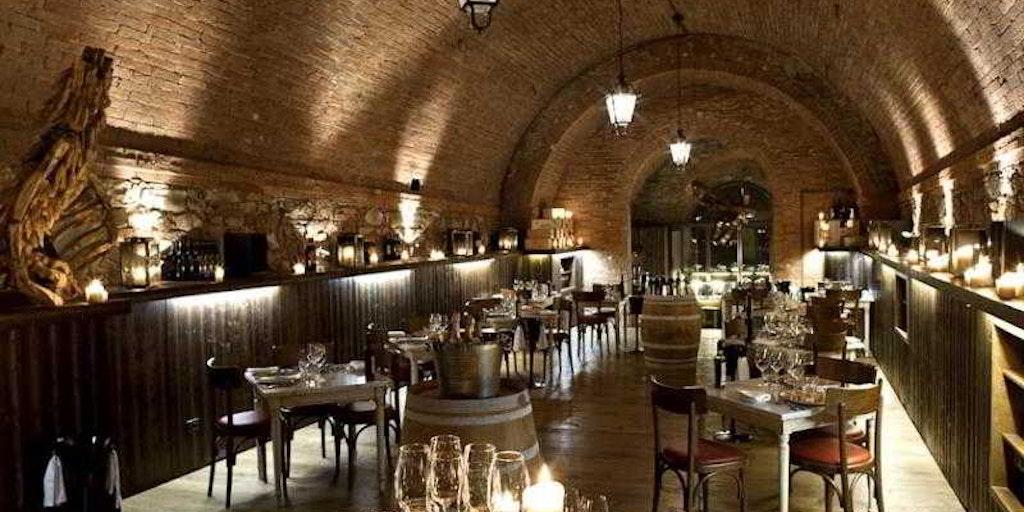 Fra restauranten på Castel Monastero