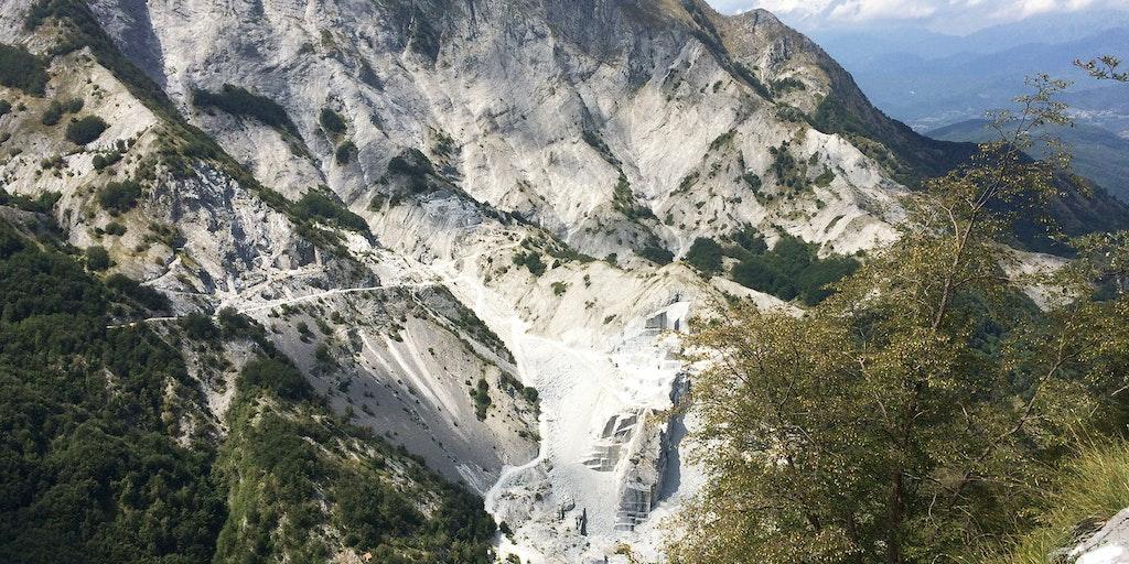 Marmorbrud i det nordlige Toscana