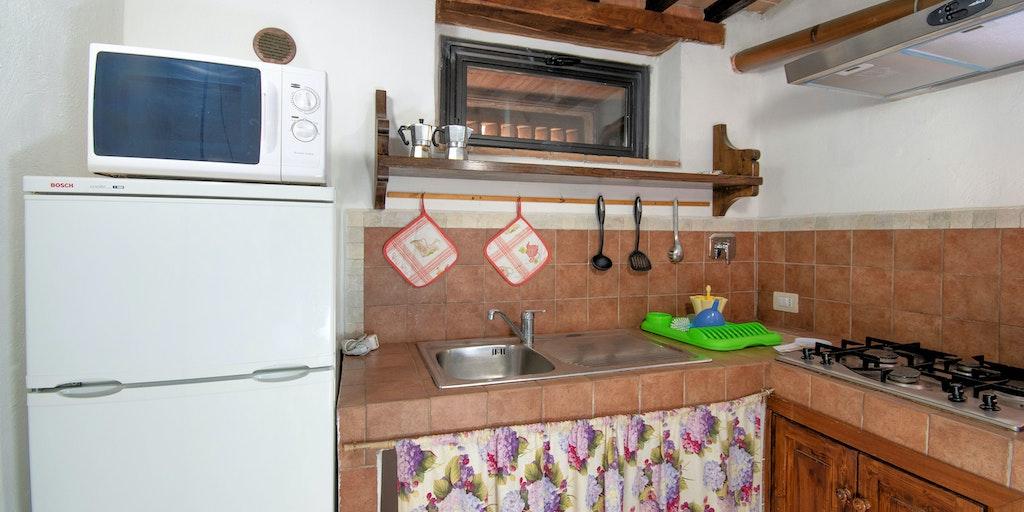 Lejlighed Cinghiale, køkken