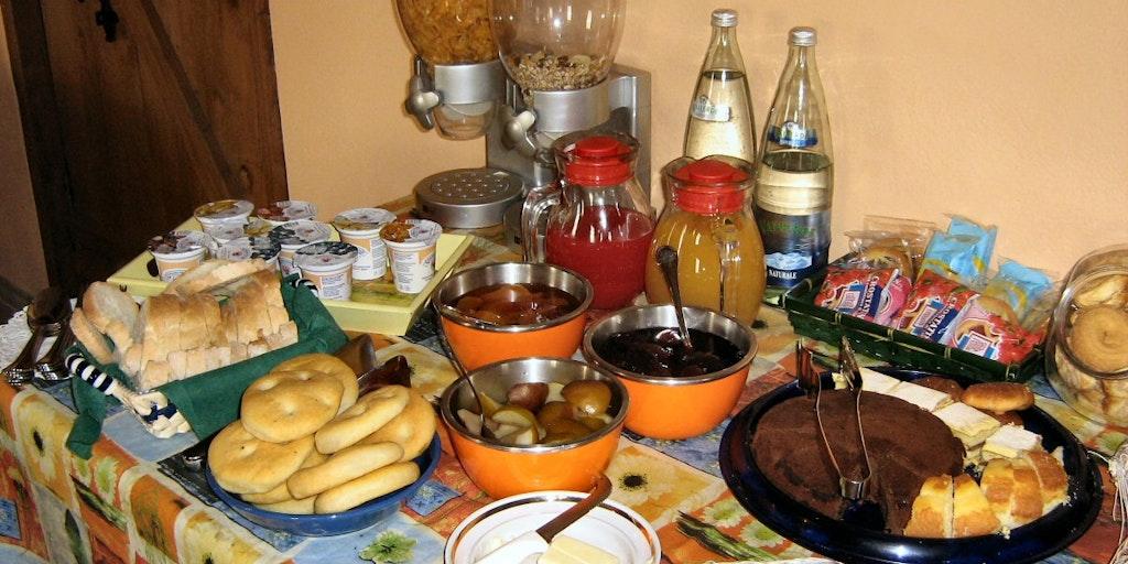 Homemade breakfast buffet
