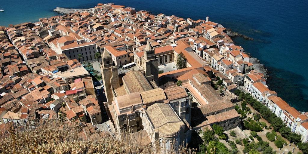 Vue sur la ville depuis l'ancienne forteresse