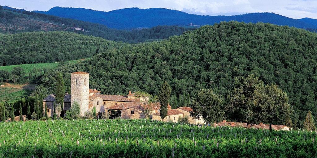 Det vackra Castello di Spaltenna