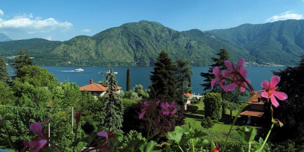 Lake Como's dramatic landscape resembles the Norwegian fjords