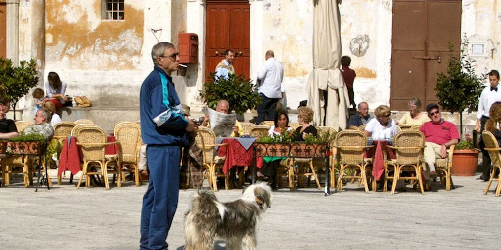 On the square in Ravello