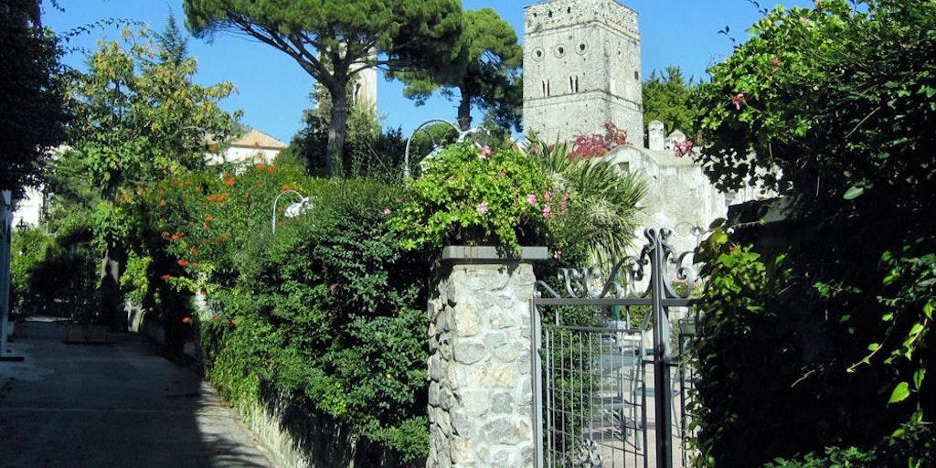 Blick auf Villa Rufolo
